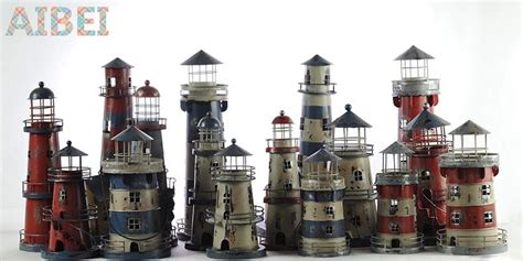 mediterranean style creative big size wooden lighthouse wholesale 38cm candle holders mediterranean style wrought