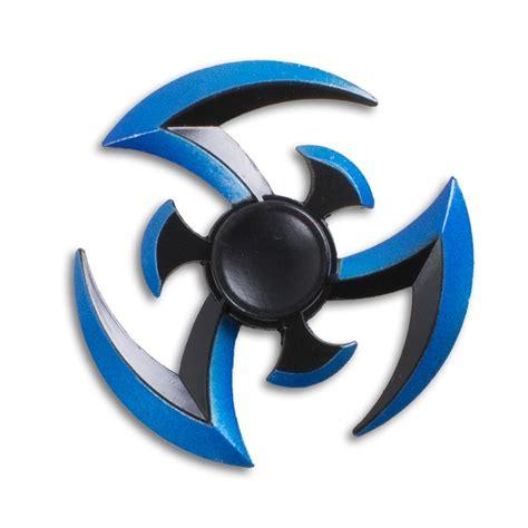 Fidget Spinner Aluminium 2 Knife King Of blue blade fidget spinner martial arts