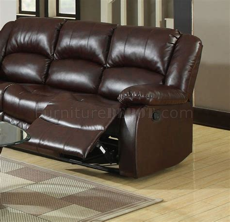 Leather Match Sofa Winslow Reclining Sectional Sofa Cm6556 In Bonded Leather Match
