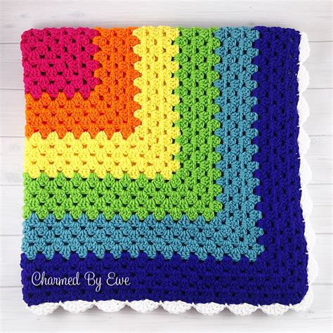 pattern crochet granny square crochet patterns galore rainbow granny square throw