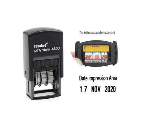 self inking rubber sts cheap trodat 4850 customize st self inking rubber mini date
