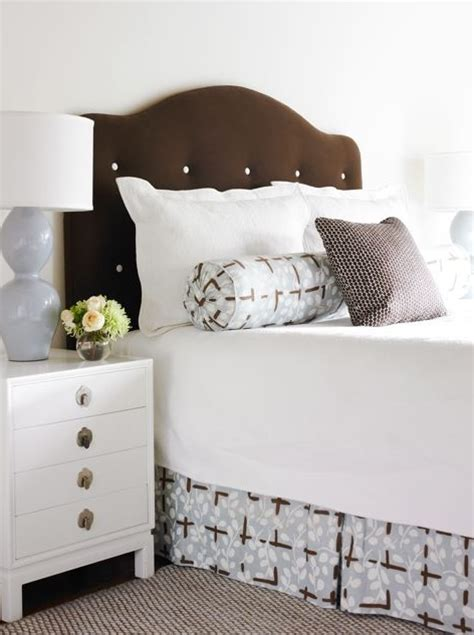 Button Tufted Headboard with Button Tufted Headboard Contemporary Bedroom Giles Interiors