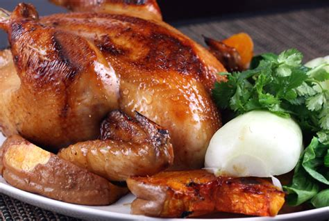 new year food chicken for the year of the rabbit roast a chicken with soy and