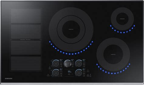 samsung nz36k7880us 36 inch induction cooktop with flex zone 15 heat settings power boost