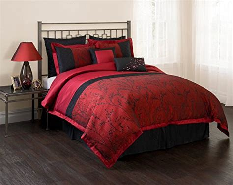 unique comforter sets unique home burgundy black comforter set 7