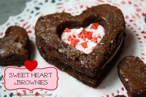valentines day brownie easy and adorable sweetheart brownies s day