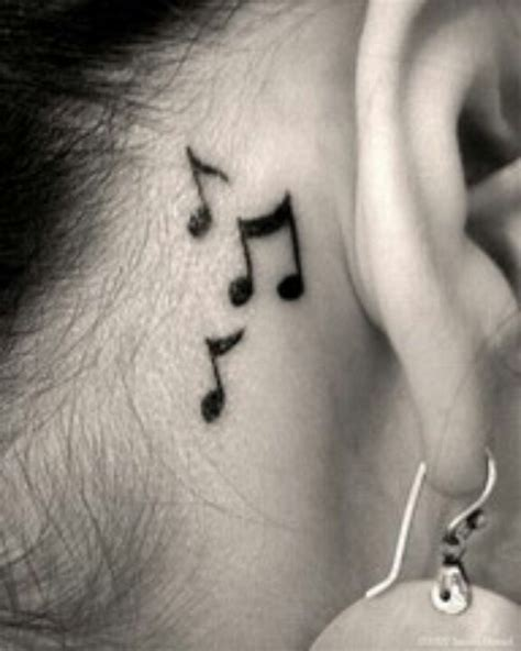 music note tattoo behind ear tumblr music note tattoo behind ear tattoos pinterest