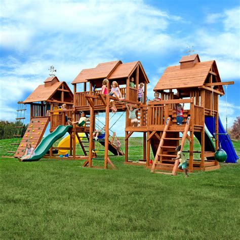 Kid Backyard Playground Set by Really Big Swing Sets Traditional Landscape Other