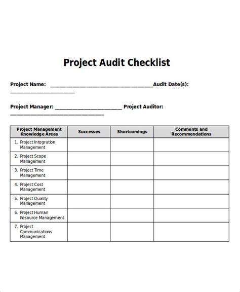 Project Management Exles by Project Audit Report Template 28 Images Project