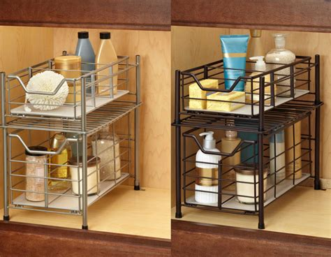 under cabinet organizers kitchen deluxe under the sink cabinet drawer storage organizer