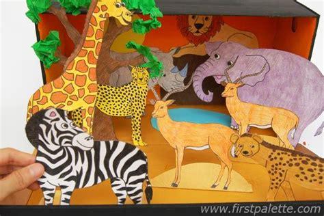 printable giraffe diorama step 9 african savanna habitat diorama art ideas