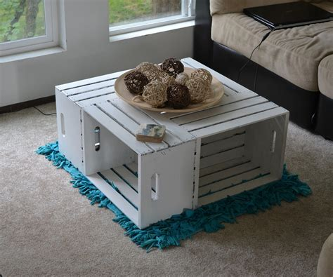 Wine Crate Coffee Table Original And Creative Ideas Diy Crate Coffee Table