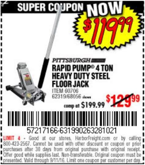 Tools 4 Flooring Coupon by Low Profile Floor Coupon Harbor Freight 61282 Autos