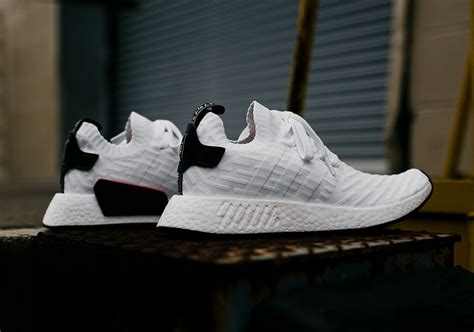 adidas nmd r2 primeknit white black by3015 sneakernews