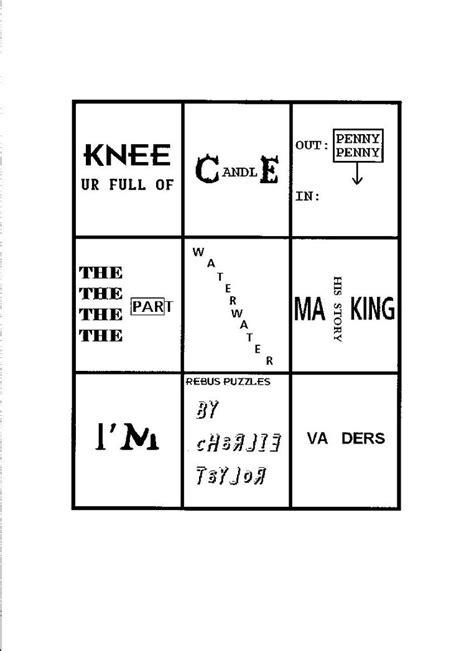 printable rebus puzzles rebus puzzles