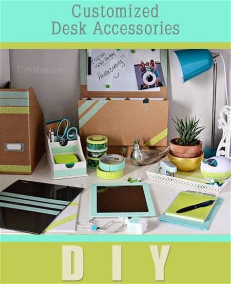 Diy Office Desk Accessories by 14 Back To School Washi Crafts Domestically Creative