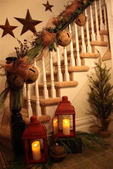 banister decor 35 remarkable christmas staircase with banister ornaments