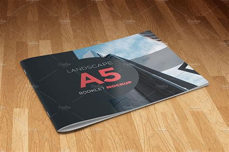 a5 booklet template a5 landscape booklet mockup product mockups creative