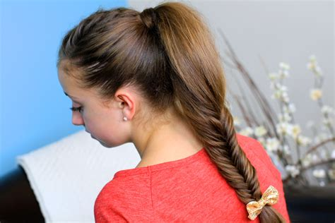 cute girls hairstyles for your crush fluffy fishtail braid hairstyles for long hair cute
