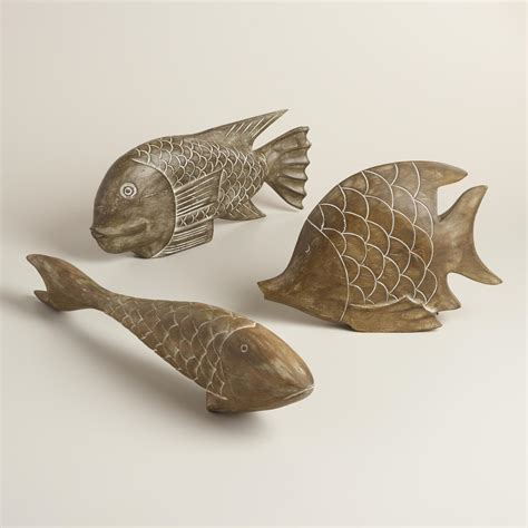 fish decor for home wood fish decor world market