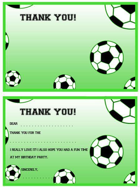 printable thank you cards football printable soccer thank you notes from printabletreats com