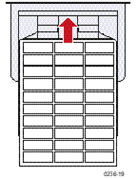 xerox label templates using the multi purpose tray