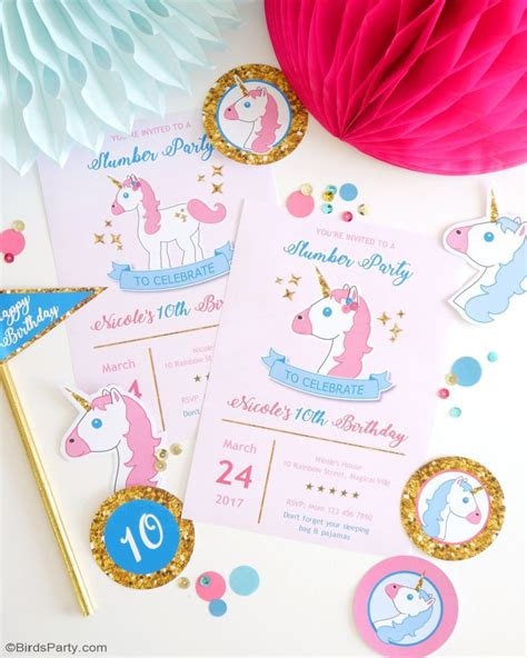 printable party decorations my daughter s unicorn birthday slumber party party ideas