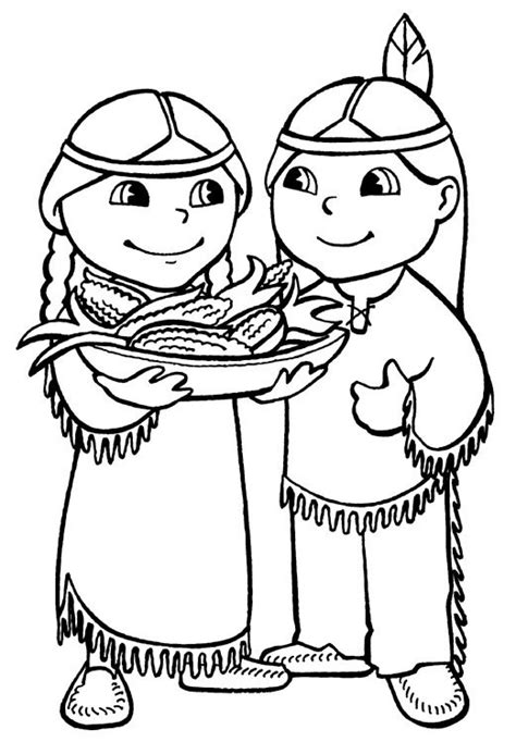 cute indian coloring pages thanksgiving coloring pages dr odd