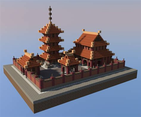 Mini House Floor Plans a buddhist temple minecraft