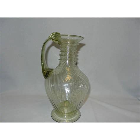 hand blown glass ls vintage hand blown art glass pitcher my grandmother had