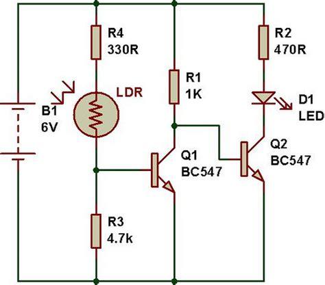photoresistor photodiode phototransistor pir light circuit electronics forums