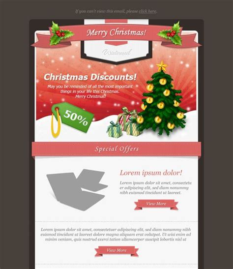 this christmas email newsletter template has 10 layout