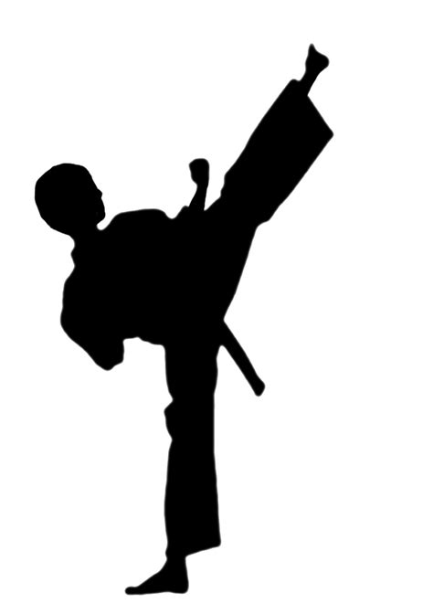 karate clipart silhouette karate clipart best