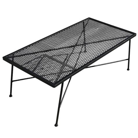 Mesh Patio Table Wrought Iron And Mesh Low Outdoor Patio Coffee Table By Woodard Company At 1stdibs