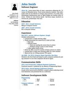 latex templates 187 wenneker resume cv