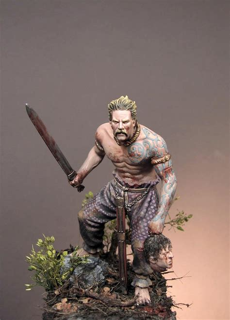 scottish warrior celtic warrior iii c b c 75mm art girona x1 fig