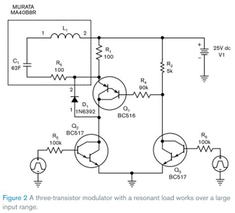 transistor lifier works three transistor modulator lifier circuit works with swept frequencies edn