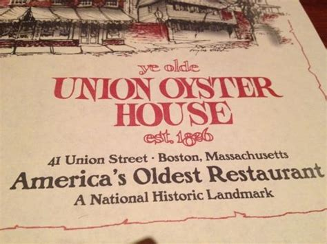 union oyster house menu heritage room on the 3rd floor picture of union oyster