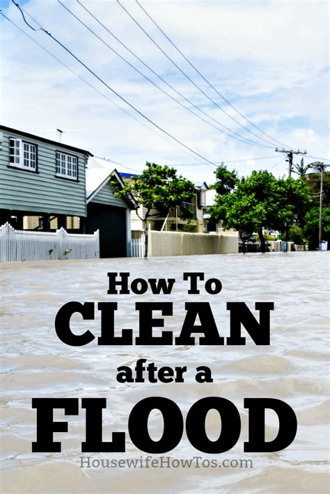 how to clean a home how to clean after a flood housewife how to s 174