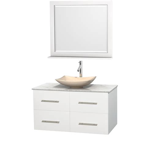 42 Inch Vanity by Wyndham Collection Wcvw00942swhcmgs5m36 Centra 42 Inch