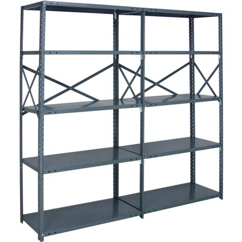 industrial steel shelving quantum heavy duty 18 industrial steel shelving 5 shelves 48in w x 30in d x 99in h