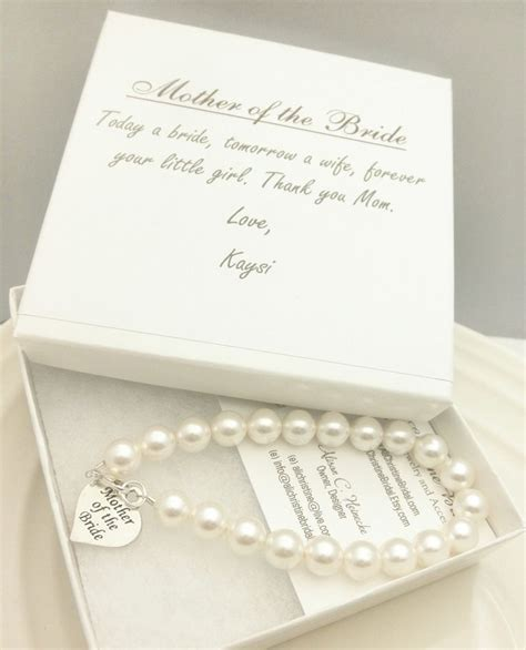 mother gifts mother of the bride pearl strand bracelet mother of the