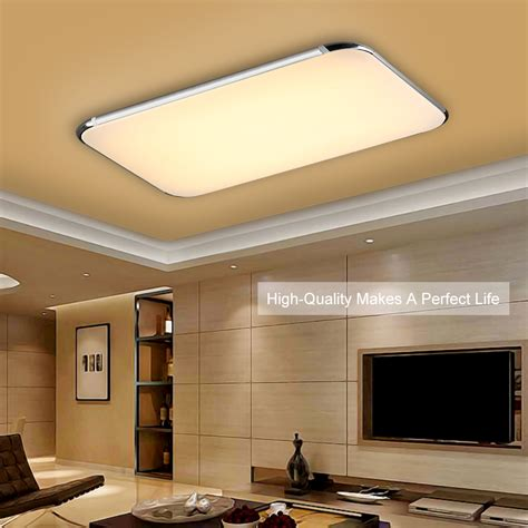 led kitchen lights 40w led ceiling light fixture l flush mount room lighting w remote control ebay