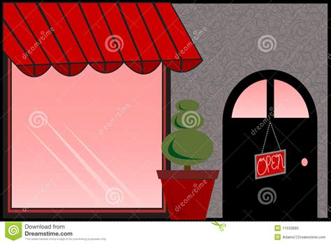 red awning store front with red awning royalty free stock photo image 11533685