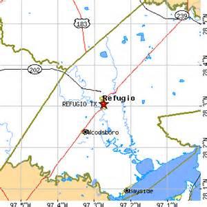 map of refugio refugio tx population data races housing