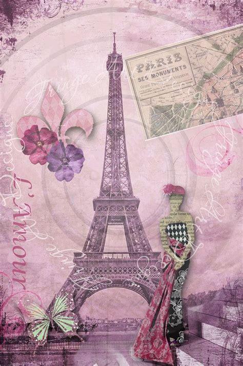 Collagen Lamour deconstructing collage no 1 l amour eiffel tower