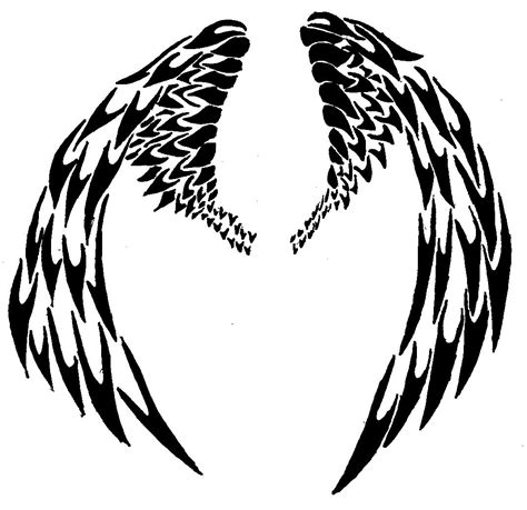 tribal wings tattoo designs tribal wings by 44 magnum on deviantart