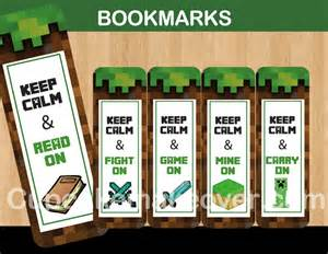 minecraft bookmark template 8 best images of printable minecraft bookmarks free