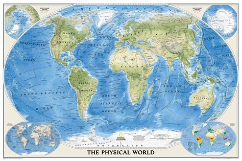 physical map of the world geographic world map