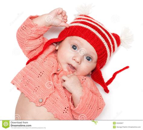 Joyful Hat joyful baby in a hat royalty free stock photography